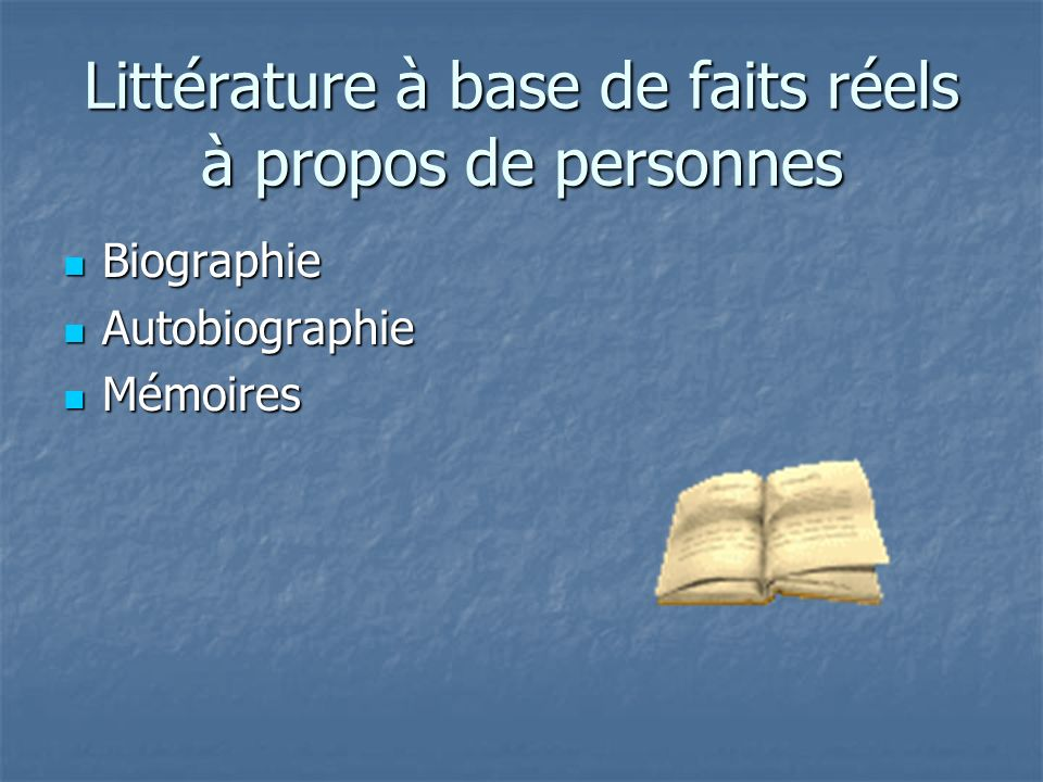 Les dix éléments de la biographie The Ten Elements of Biography. Mme Youse
