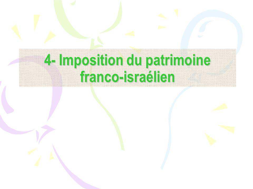 4- Imposition du patrimoine franco-israélien