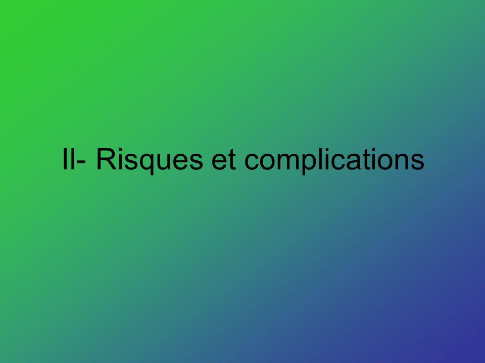 II- Risques et complications