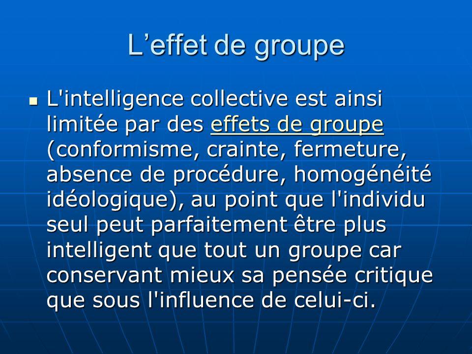 A noter par ailleurs que la notion d intelligence s applique aux facultés cognitives, voir émotionnelles, d un individu.