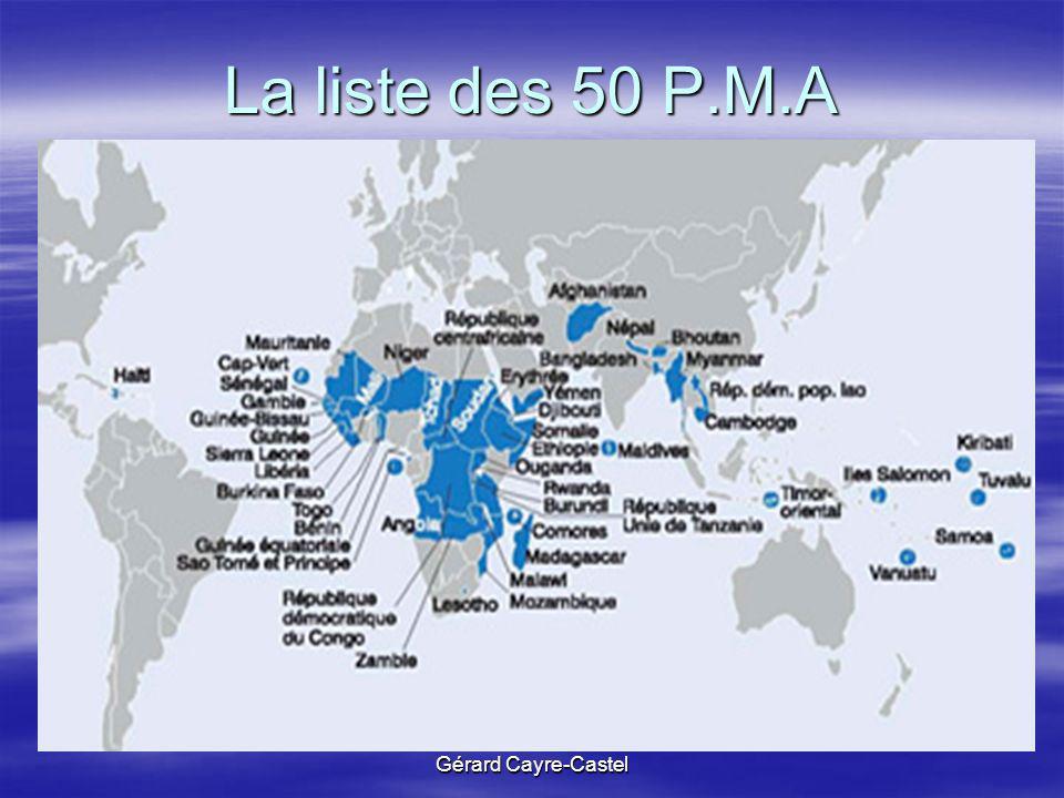 Gérard Cayre-Castel La liste des 50 P.M.A