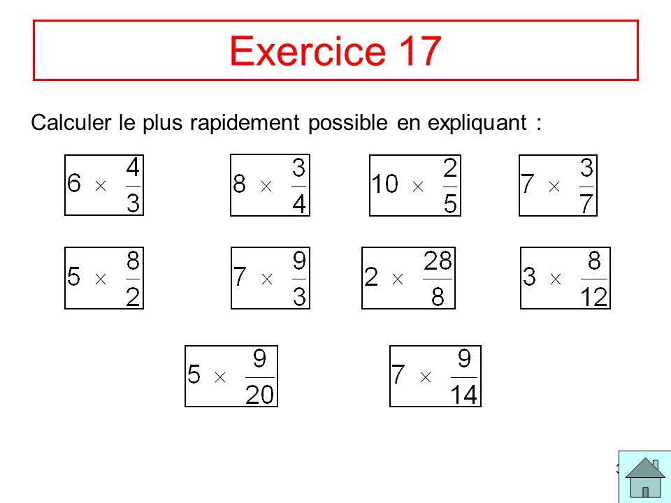 34 Exercice 17 Calculer le plus rapidement possible en expliquant :