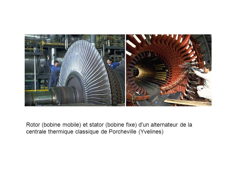 Rotor (bobine mobile) et stator (bobine fixe) d un alternateur de la centrale thermique classique de Porcheville (Yvelines)