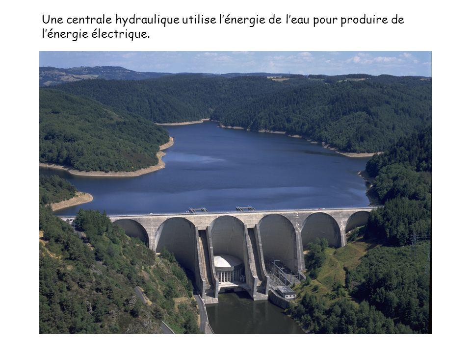 Une centrale hydraulique utilise lénergie de leau pour produire de lénergie électrique.
