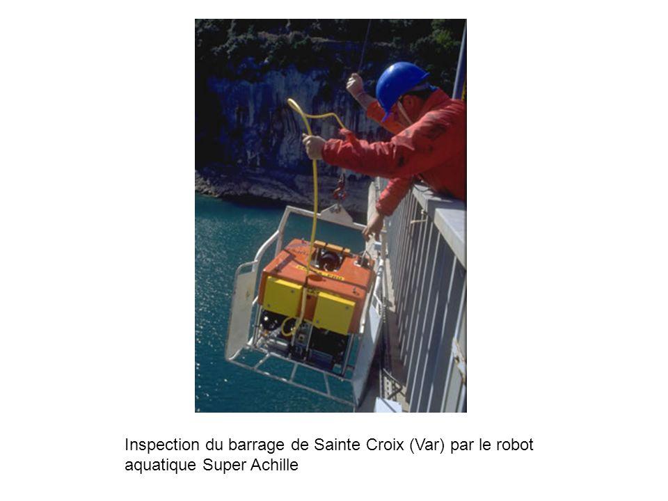 Inspection du barrage de Sainte Croix (Var) par le robot aquatique Super Achille