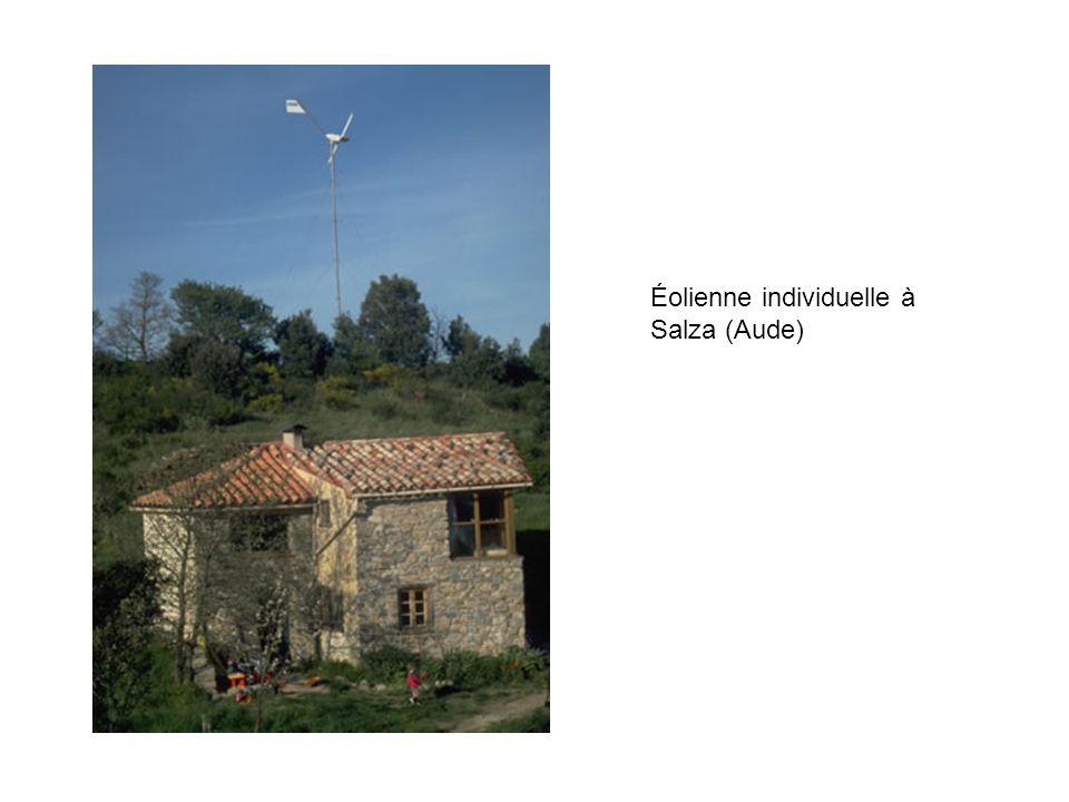 Éolienne individuelle à Salza (Aude)
