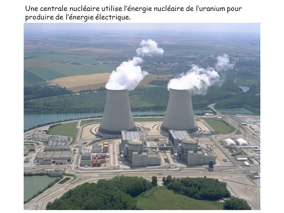 Une centrale nucléaire utilise lénergie nucléaire de luranium pour produire de lénergie électrique.