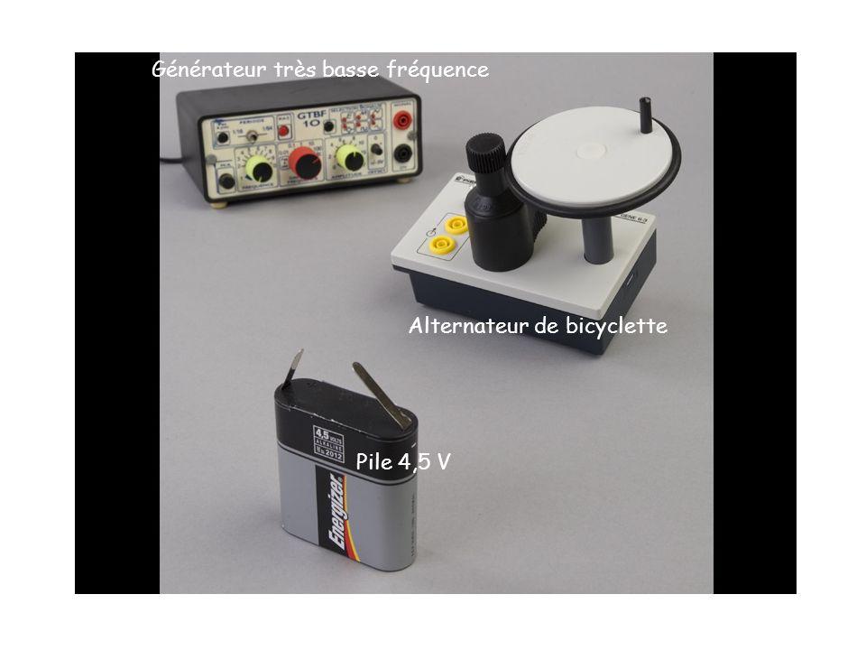Générateur très basse fréquence Alternateur de bicyclette Pile 4,5 V
