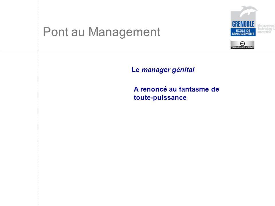 Pont au Management Le manager génital A renoncé au fantasme de toute-puissance