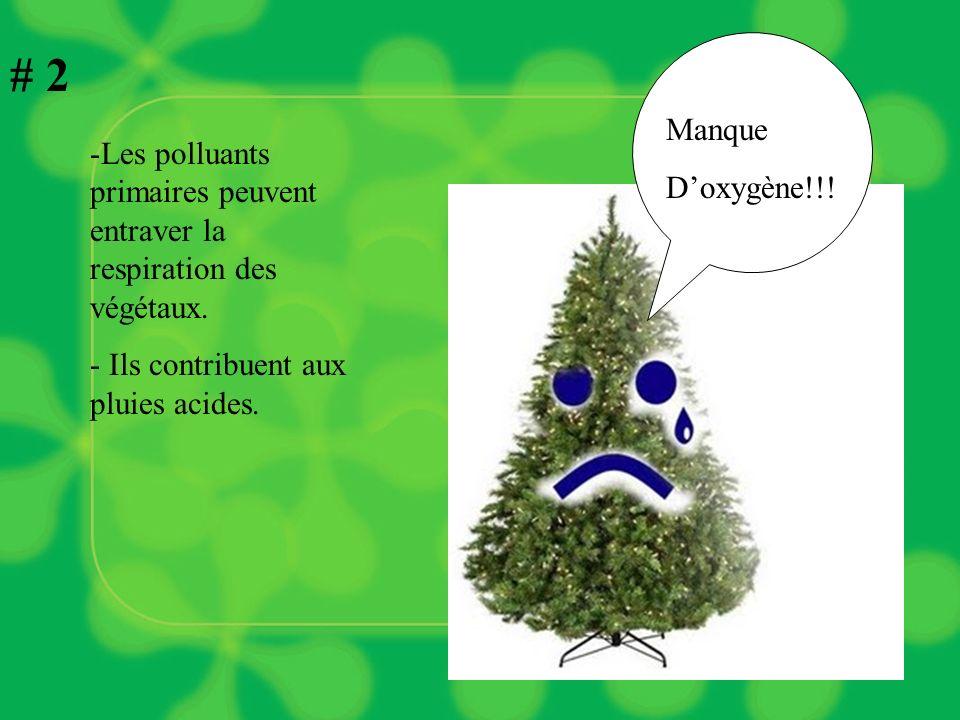 # 1 -Les polluants peuvent altérer les fonctions pulmonaires chez les gens sensibles.