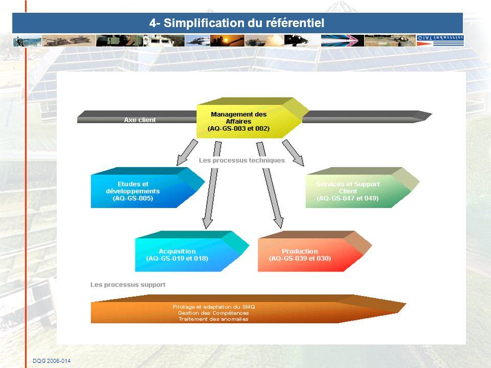 DQG 2006-014 4- Simplification du référentiel