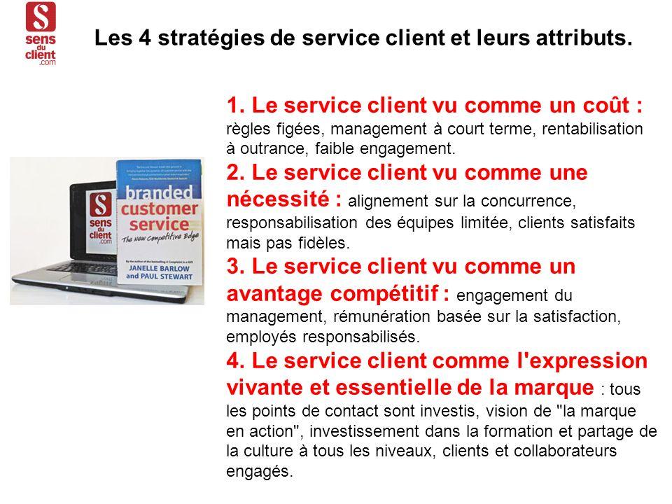 1. Le service client vu comme un coût : règles figées, management à court terme, rentabilisation à outrance, faible engagement. 2. Le service client v