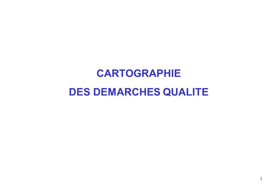 1 CARTOGRAPHIE DES DEMARCHES QUALITE