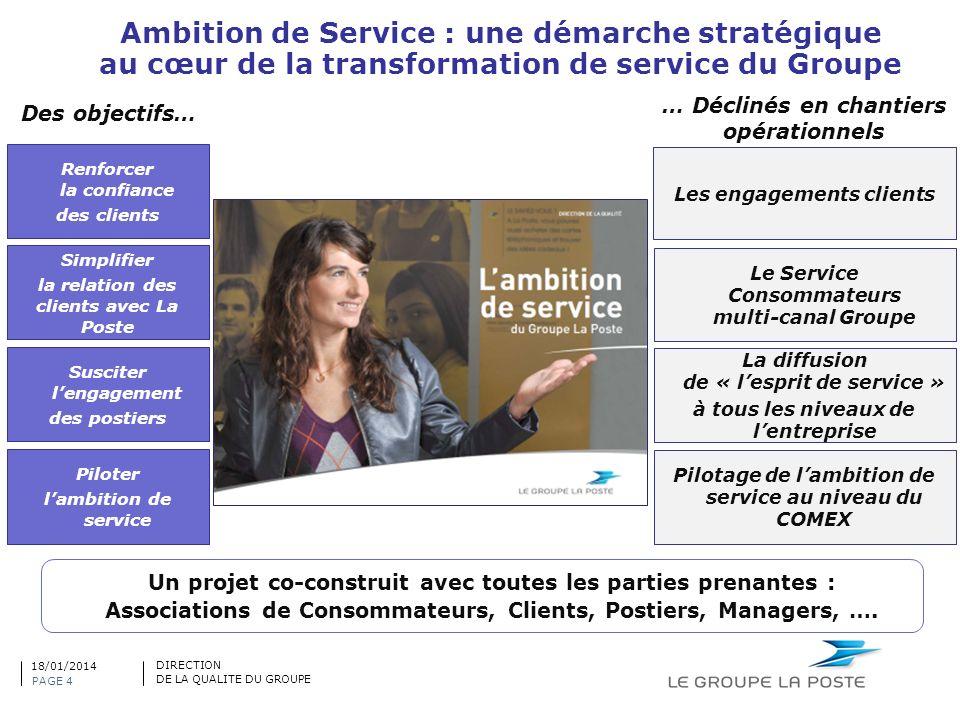Ambition de Service : une démarche stratégique au cœur de la transformation de service du Groupe Simplifier la relation des clients avec La Poste Susc