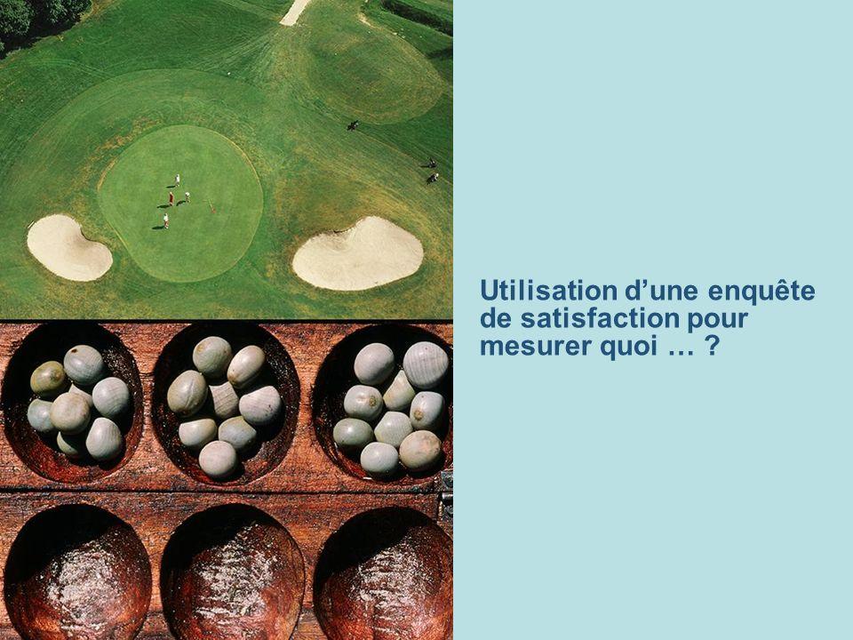 Utilisation dune enquête de satisfaction pour mesurer quoi … ?
