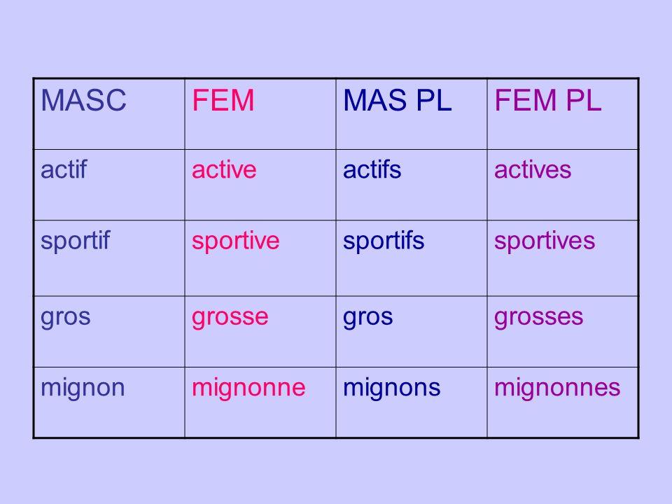MASCFEMMAS PLFEM PL actifactiveactifsactives sportifsportivesportifssportives grosgrossegrosgrosses mignonmignonnemignonsmignonnes