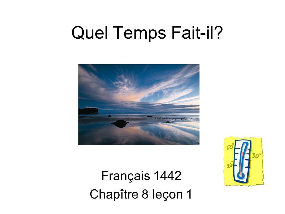 Quel Temps Fait-il? Français 1442 Chapître 8 leçon 1