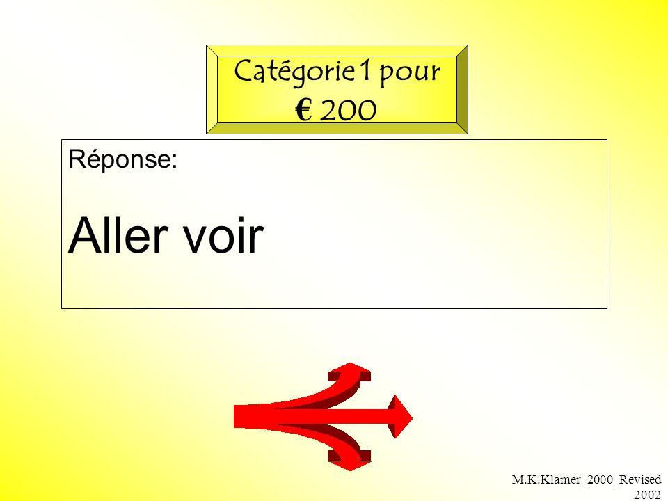 M.K.Klamer_2000_Revised 2002 Réponse: Aller voir Catégorie 1 pour 200