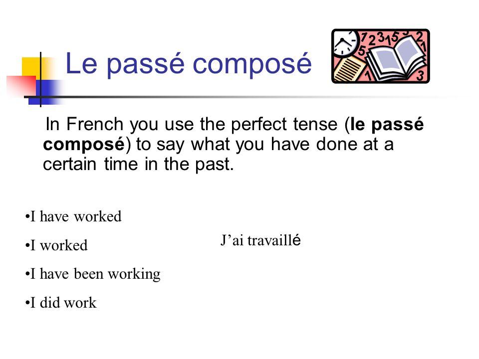 What do theses sentences mean.Marie a écouté un disque.