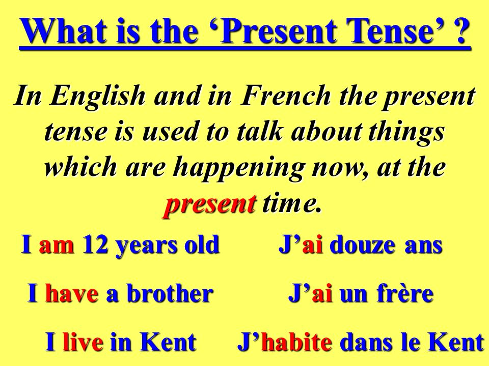 What is the Present Tense .