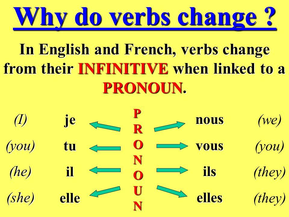 Why do verbs change .
