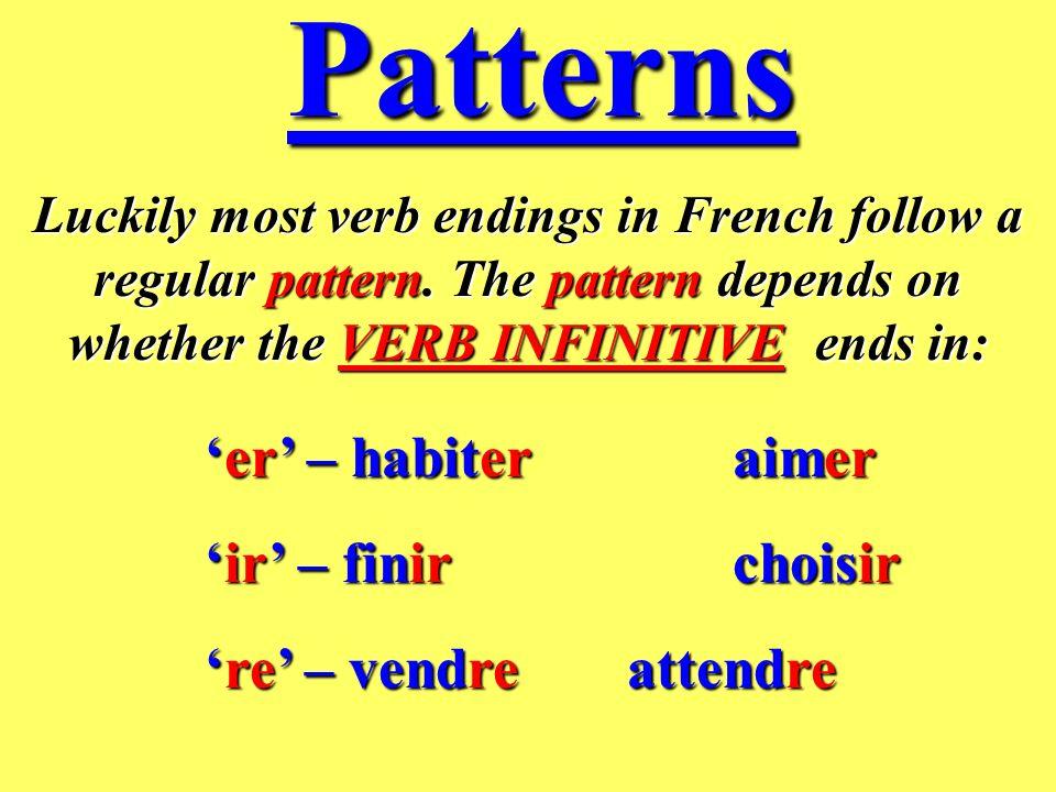Heres an example of how verb infinitives change in English and in French… je tu il elle nous vous ils elles suis es est est sommes êtes sont sont I yo