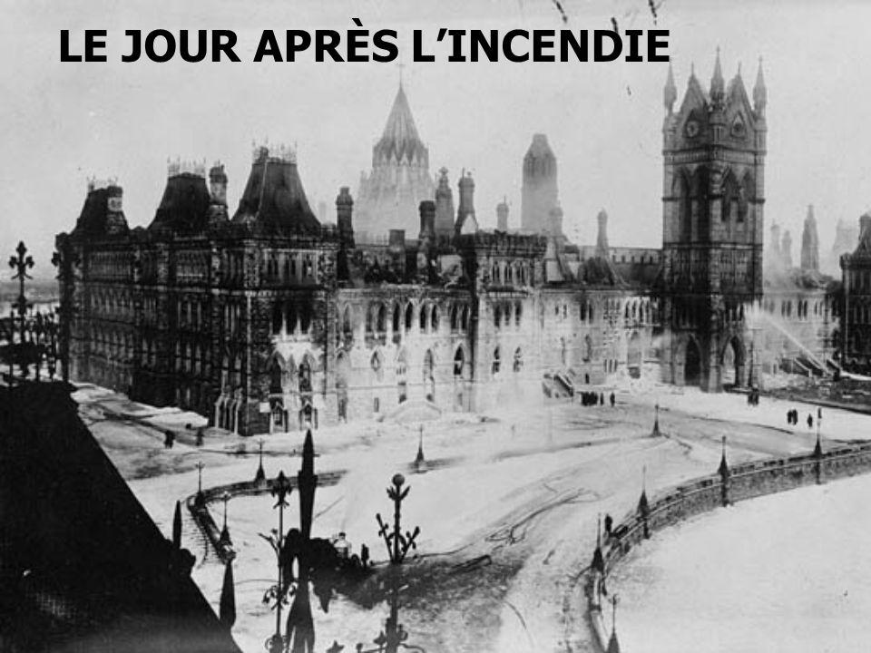 LE JOUR APRÈS LINCENDIE