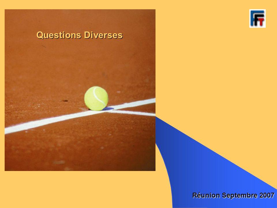 Questions Diverses Réunion Septembre 2007