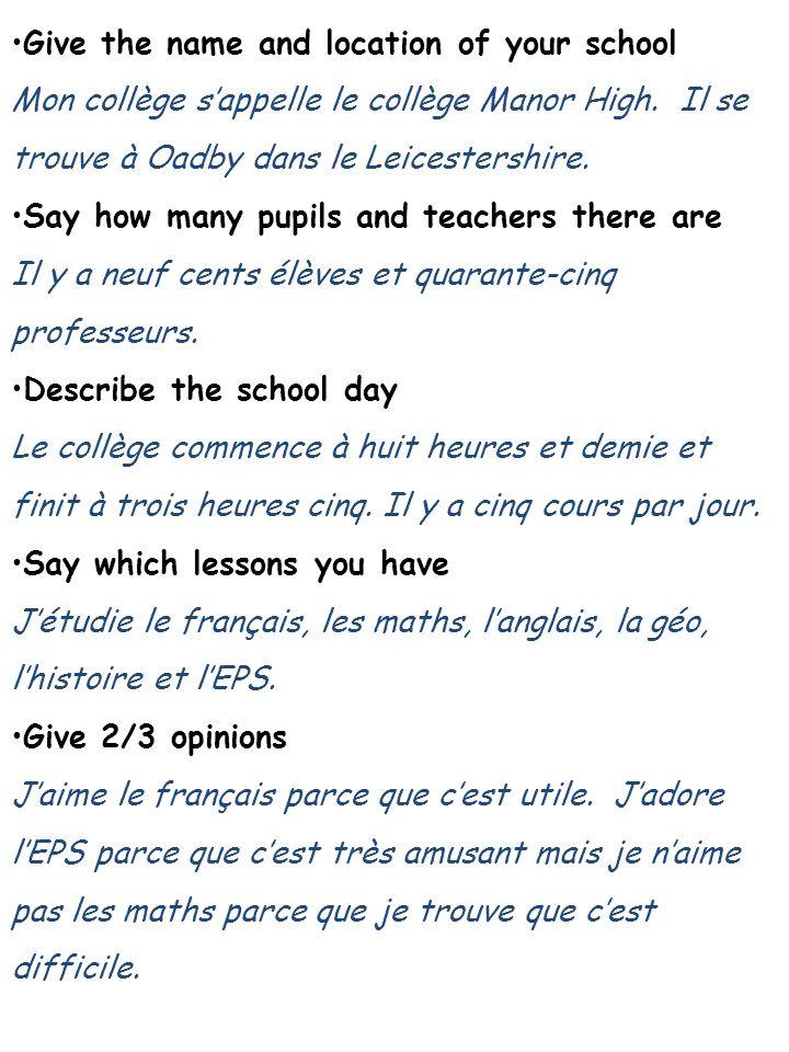 Describe the school uniform and give your opinion On porte un pantalon noir, un polo jaune et un sweat gris.