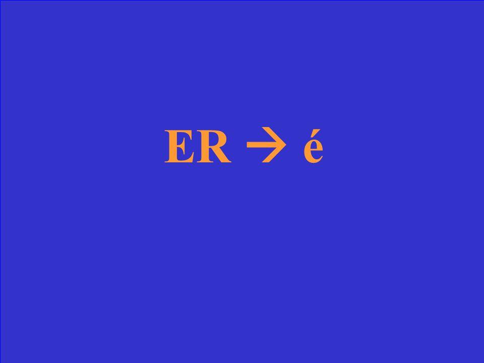 Comment former le participe passé des verbes ER