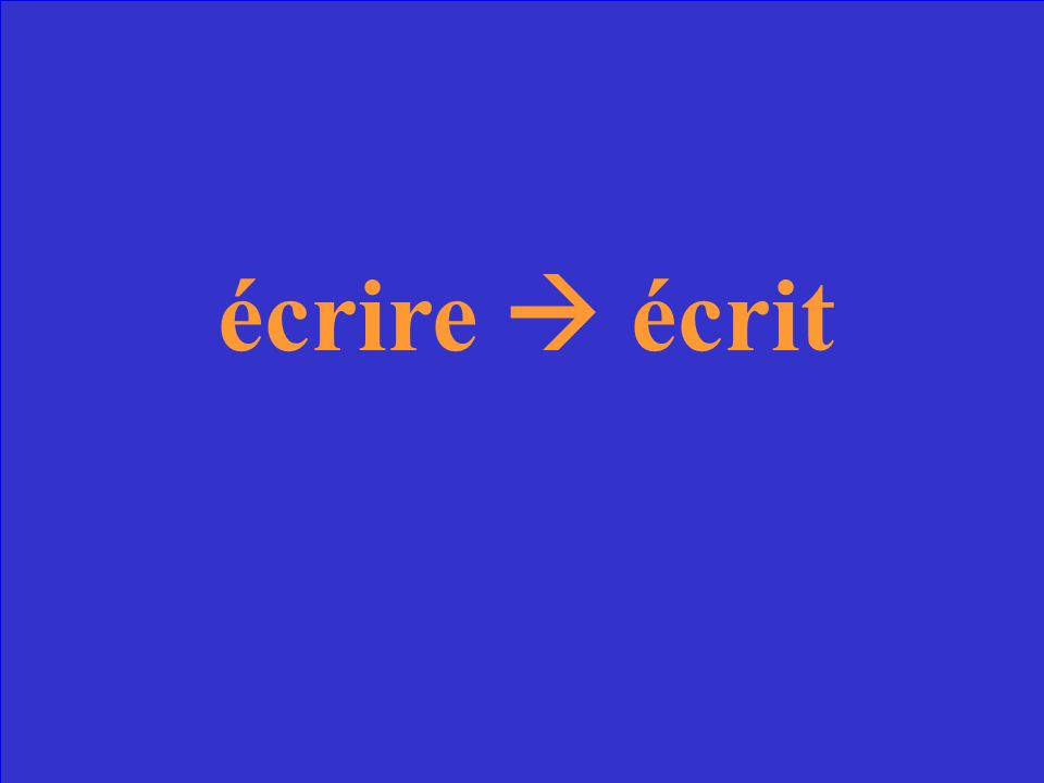 Quel est le participe passé du verbe écrire?