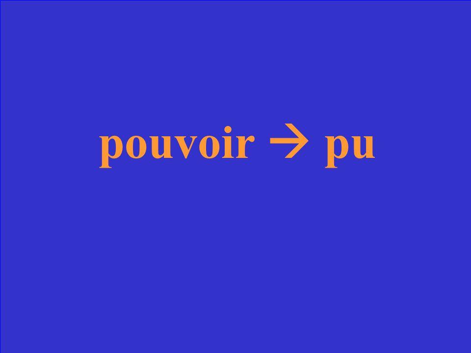 Quel est le participe passé du verbe pouvoir?