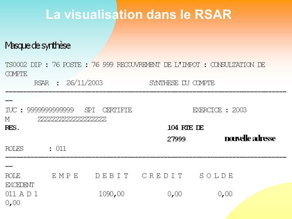 La visualisation dans le RSAR