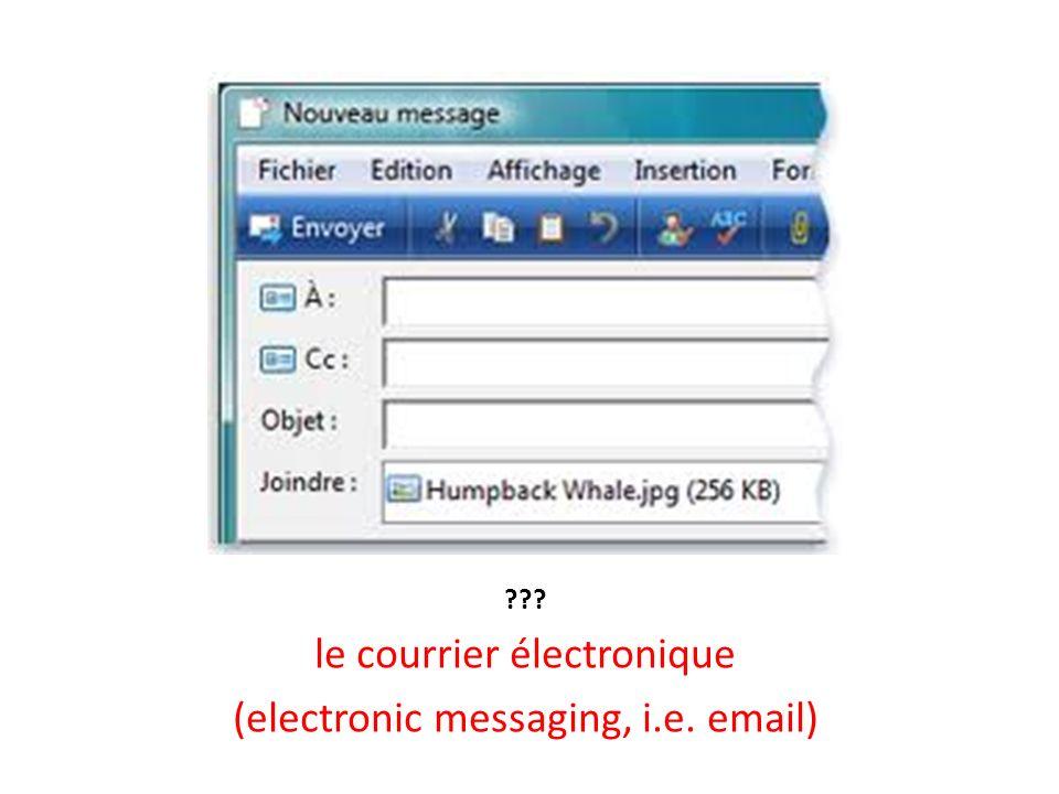??? le courrier électronique (electronic messaging, i.e. email)