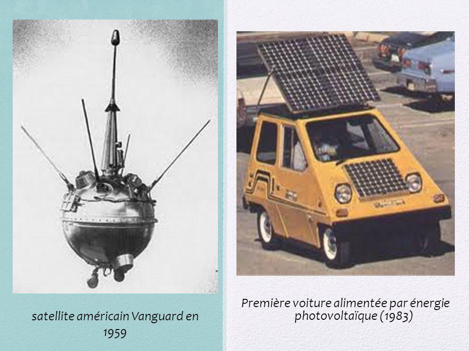 Première voiture alimentée par énergie photovoltaïque (1983) satellite américain Vanguard en 1959