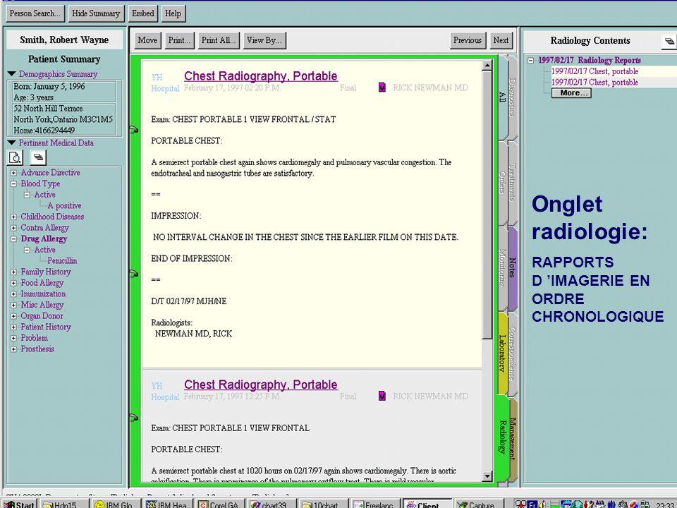 Onglet radiologie: RAPPORTS D IMAGERIE EN ORDRE CHRONOLOGIQUE