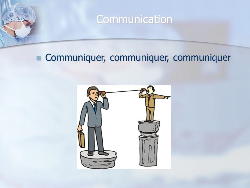 Communication Communiquer, communiquer, communiquer Communiquer, communiquer, communiquer