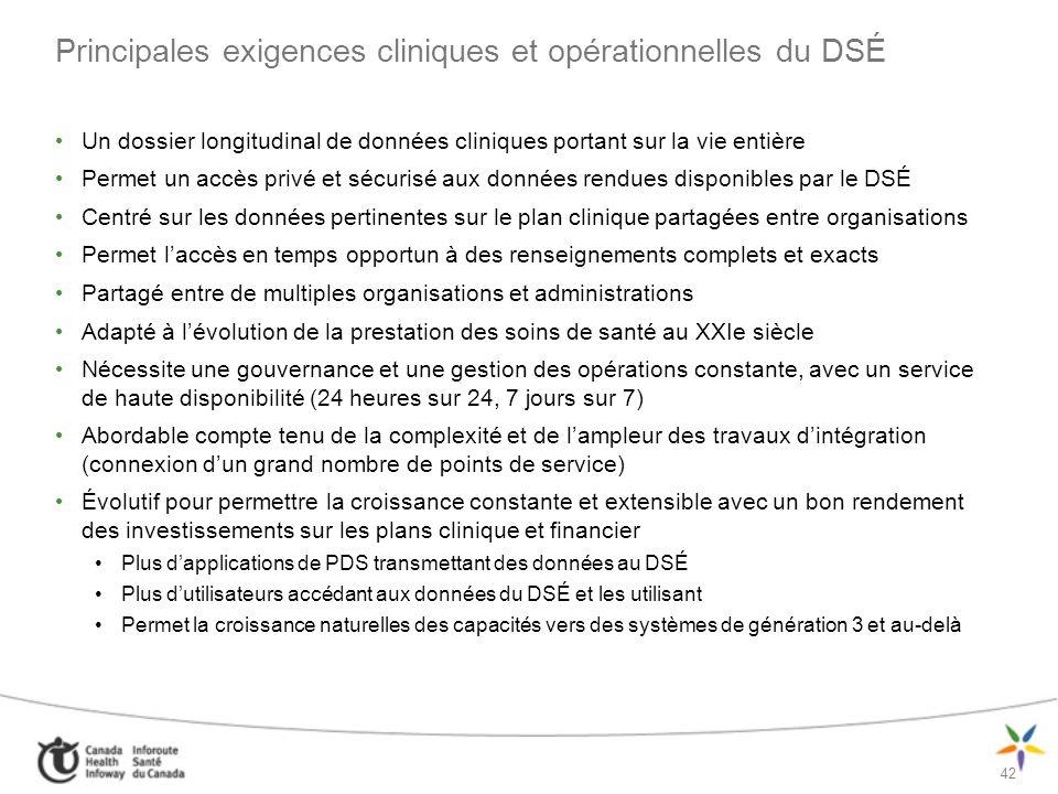 43 Différentes approches à la concrétisation du DSÉ