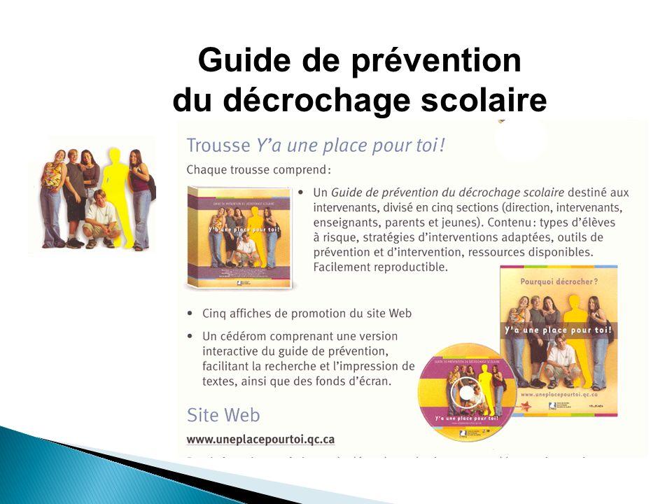 Guide de prévention du décrochage scolaire