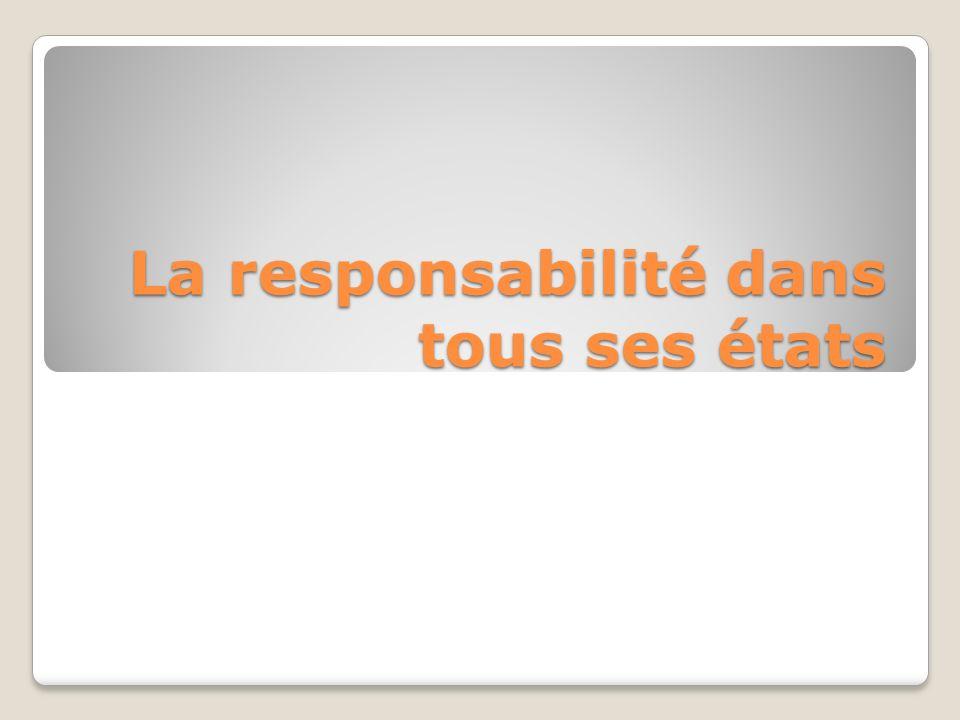 La responsabilité dans tous ses états