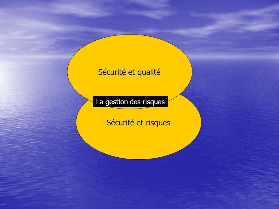 Sécurité et risques Sécurité et qualité La gestion des risques