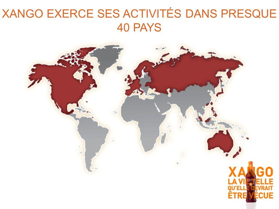 XANGO EXERCE SES ACTIVITÉS DANS PRESQUE 40 PAYS