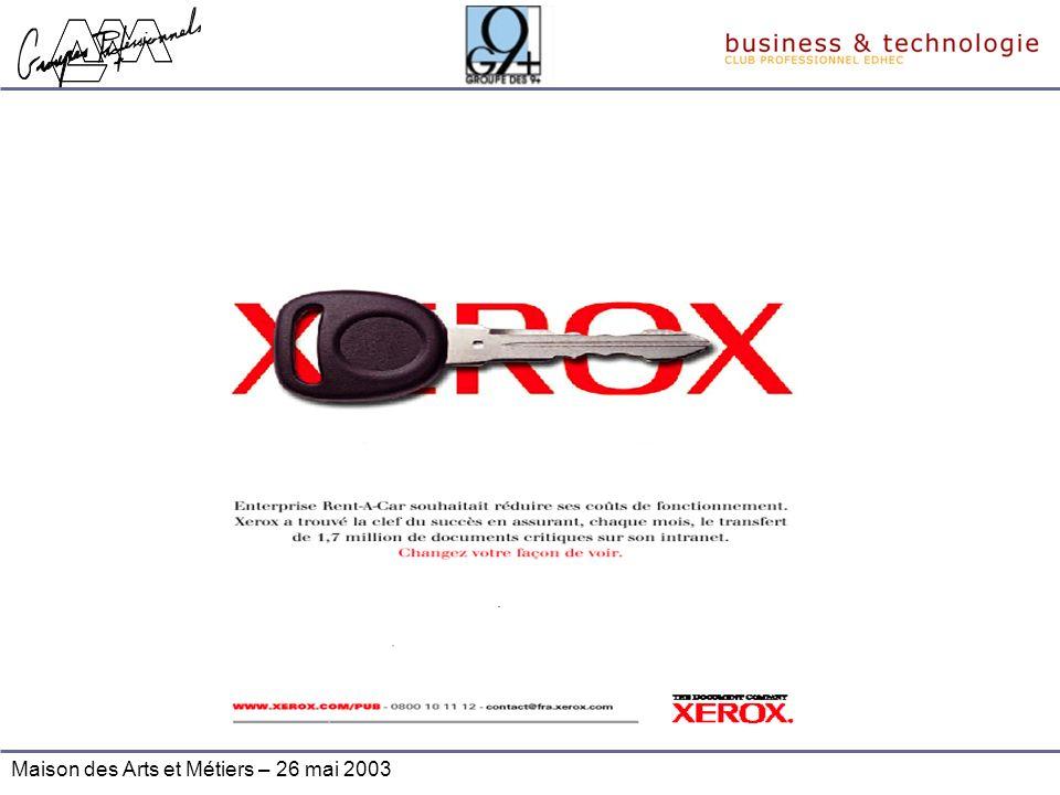 Maison des Arts et Métiers – 26 mai 2003