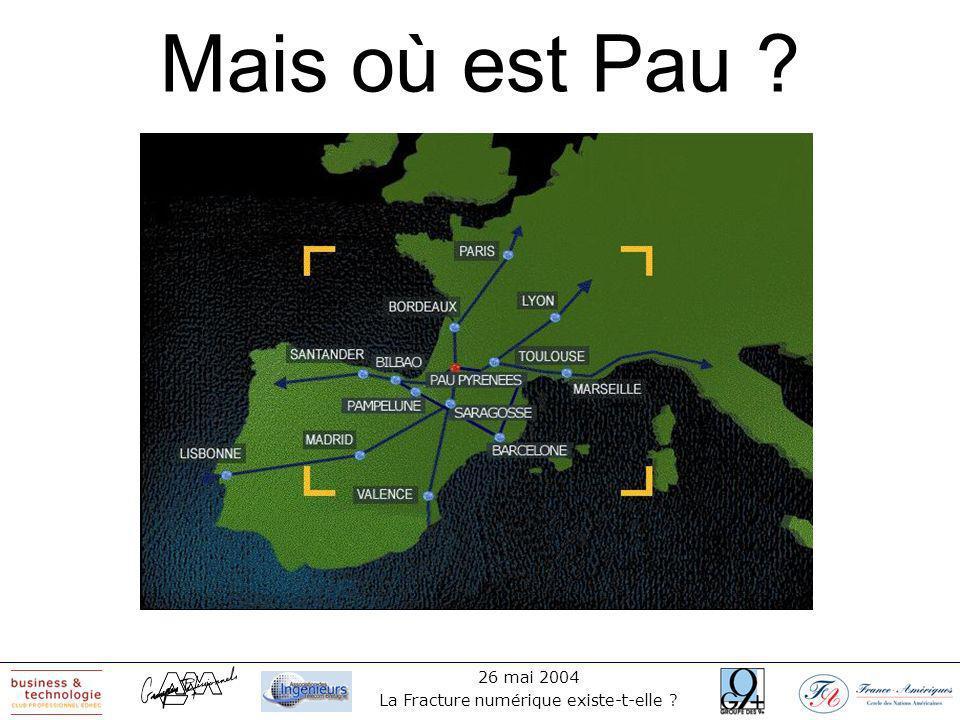 26 mai 2004 La Fracture numérique existe-t-elle ? Une jolie ville au pied des Pyrénées