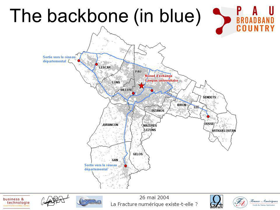 26 mai 2004 La Fracture numérique existe-t-elle The backbone (in blue)