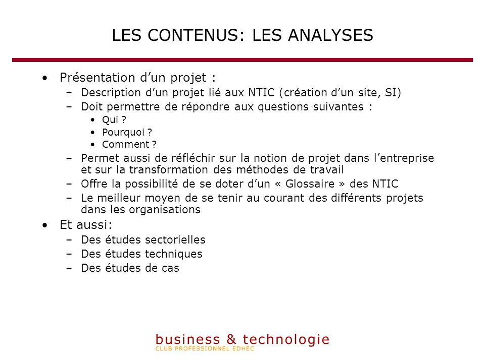 Présentation dun projet : –Description dun projet lié aux NTIC (création dun site, SI) –Doit permettre de répondre aux questions suivantes : Qui .
