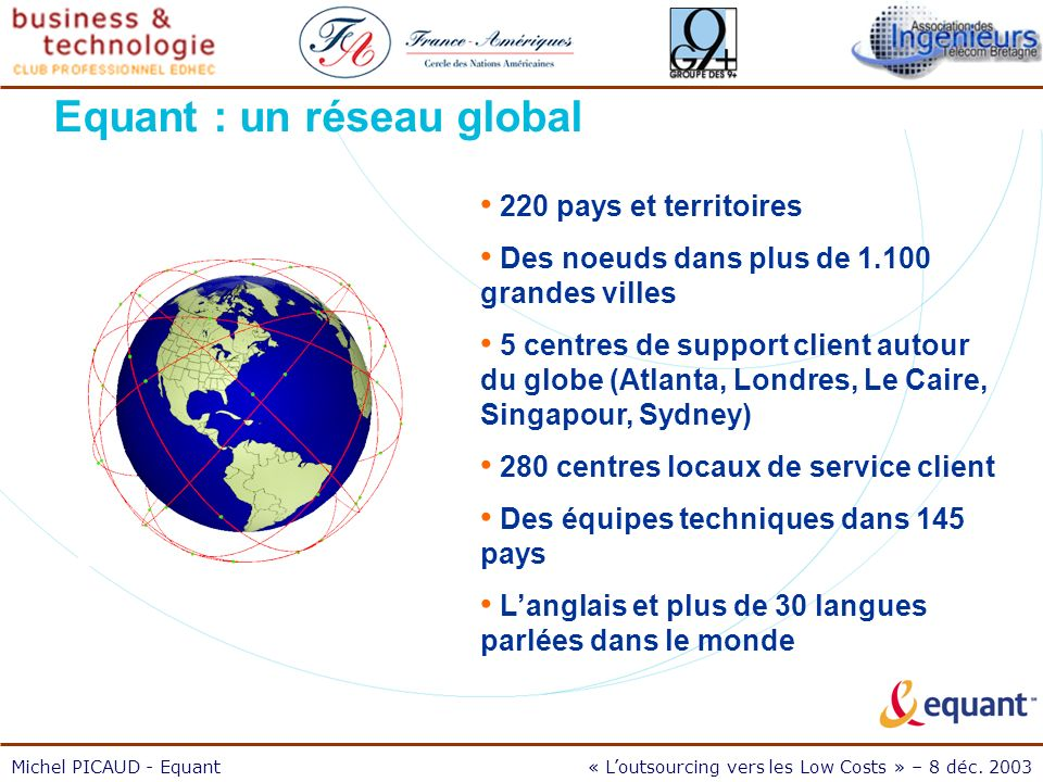 Michel PICAUD - Equant« Loutsourcing vers les Low Costs » – 8 déc.