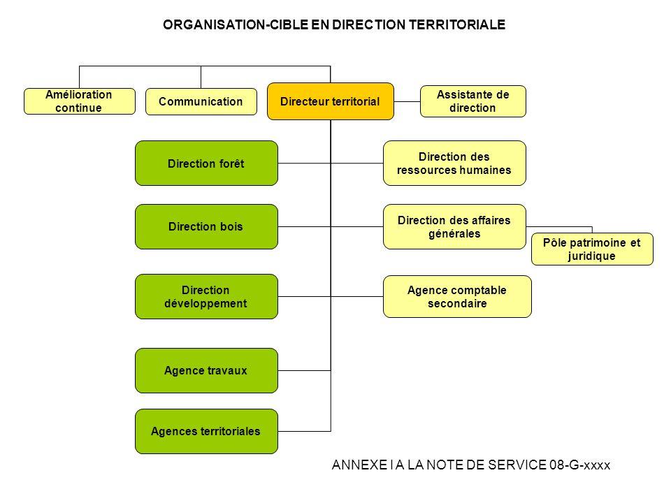 Directeur territorial Assistante de direction Communication Agence comptable secondaire Pôle patrimoine et juridique Agences territoriales Agence trav