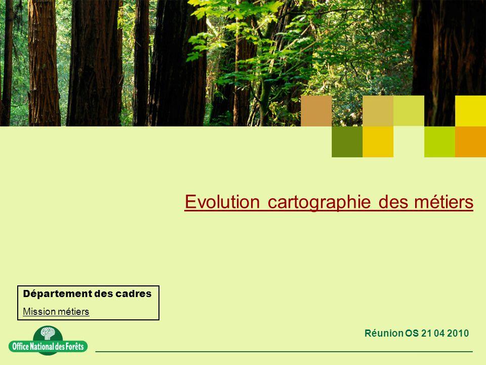 Réunion OS 21 04 2010 Evolution cartographie des métiers Département des cadres Mission métiers