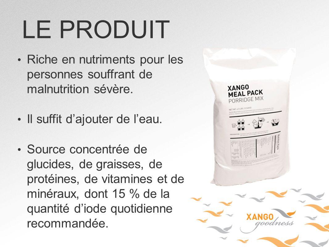 Riche en nutriments pour les personnes souffrant de malnutrition sévère. Il suffit dajouter de leau. Source concentrée de glucides, de graisses, de pr